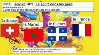 Dynamo 1  Le sport dans les pays francophones Module 3 Unit 3