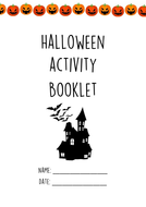 Halloween Task Booklet - Literacy/Maths/Art/Design Tech/Music/Geography/History/Music included
