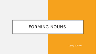 Forming Nouns
