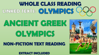 Ancient Greek Olympics - Whole Class Reading Session!