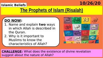GCSE-Religious-Studies---Risalah---Nubuwwah---Prophets-of-Allah-(Islamic-beliefs-topic)-COMPLETE-LESSON.pptx