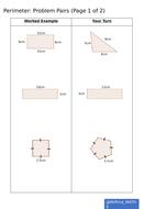 Perimeter - Example Problem Pairs