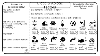 Biotic---Abiotic--Adaptations--Competition-and-Interdepence-Simple-Science-Worksheets.pptx