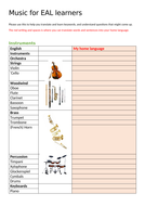 Music for EAL learners 1