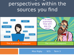 Social and Community Studies - Science and Technology (eSafety) unit - Identifying perspectives