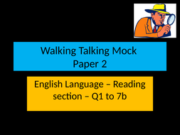 Edexcel English Language Paper 2 Walking Talking Mock