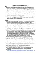 Jonathan Harker character profile - Dracula, A Level English Language and Literature