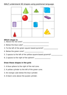 Positional Language - 3D shapes (Key Stage 1 )