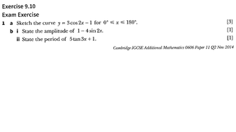 0606_Ex 9.10_Trignometry_Past Year Paper Questions_Solutions