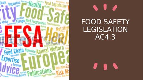 Food Safety Legislation AC4.3