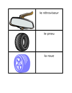 Car Parts in French Card Games