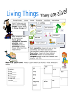 Living Things! Characteristics of Living Things