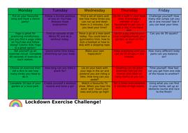 Lockdown Exercise Challenge