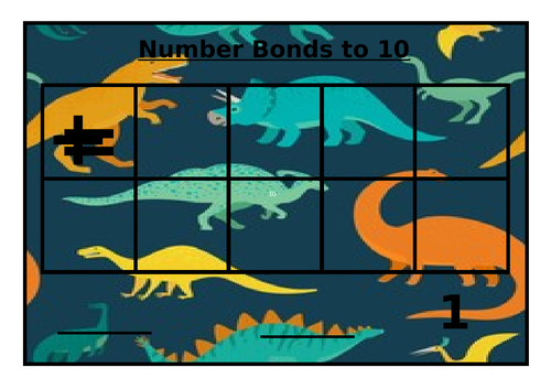 Number bonds to 10 tens frames