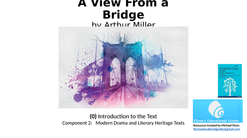 GCSE Literature: (0) 'A View from a Bridge' – Introduction to the Text