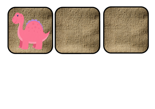 Dinosaur themed number cards with random  numbers between 1 and 20