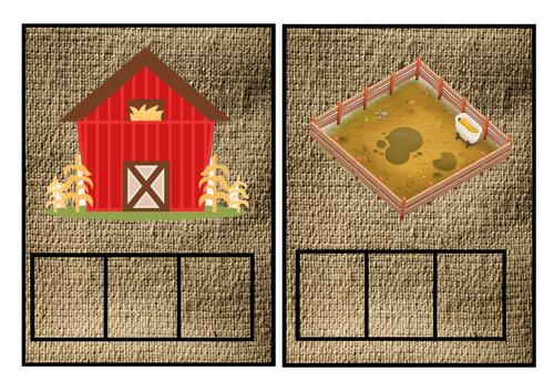 Farm themed phoneme frames for phase 2/3