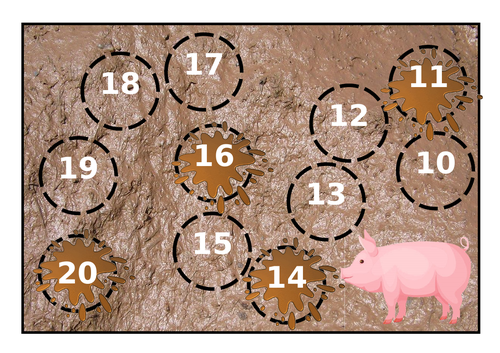 Missing numbers 10-20 farm theme