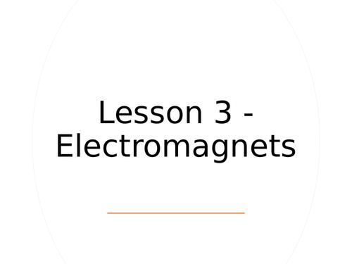 KS3 Science   3.2.3-4 Magnetism - Lesson 3 - Electromagnets  FULL LESSON