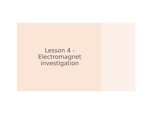 KS3 Science   3.2.3-4 Magnetism - Lesson 4 - Electromagnet investigation  FULL LESSON