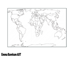 World Map By TESCommunity Teaching Resources Tes - Blank world map a4