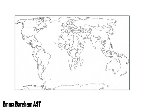 World map by TESCommunity  Teaching Resources  Tes