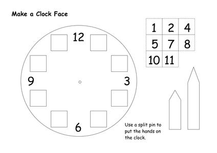 clock face template resources tes. Black Bedroom Furniture Sets. Home Design Ideas