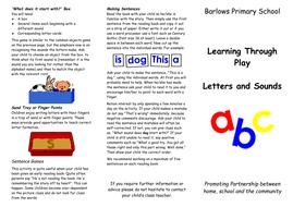 Parents' Leaflets - phonics; numbers