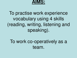 Spanish Resources: Work Experience