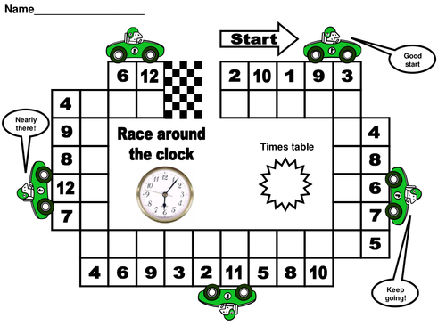 Race around the clock times tables by matt7 teaching resources tes - Teaching multiplication tables ...