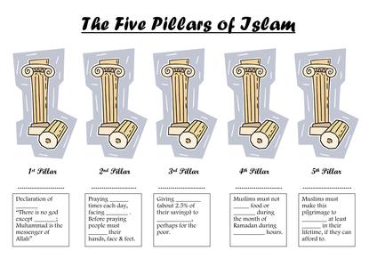 5 pillars of islam worksheet by edithmaud uk teaching resources tes. Black Bedroom Furniture Sets. Home Design Ideas