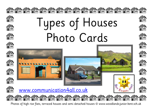 Types of houses photo cards by bevevans22 teaching for Different kinds of houses