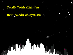 Twinkle Twinkle Little star presntation