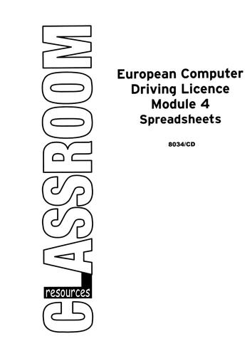 European Computer Driving Licence V4, Module 4