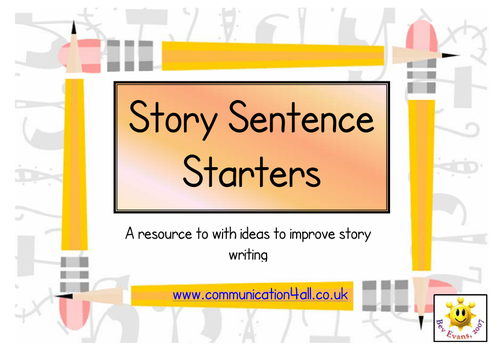 Story sentence starters openers writing ideas by for Story starter com