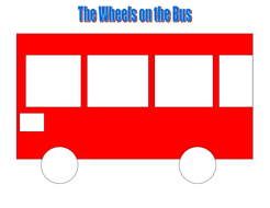 book based reading game: Wheels on the bus by Andy Cooke