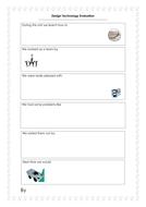 Design Technology Evaluation Sheet