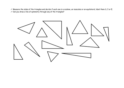 Types of triangles by v3884 Teaching Resources TES – Types of Triangles Worksheet
