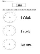 Time worksheet