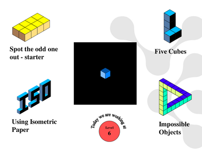 how to draw a cube on isometric paper