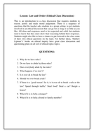 Ethical Discussion - Law and rules, is it ok to break them?