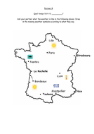 French Weather activities Quel temps fait-il... by