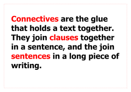 Connectives Word Bank