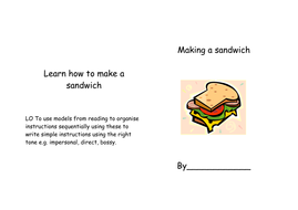 Instructions writing formats/worksheets