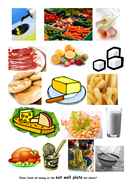 food images to use with the eatwell plate