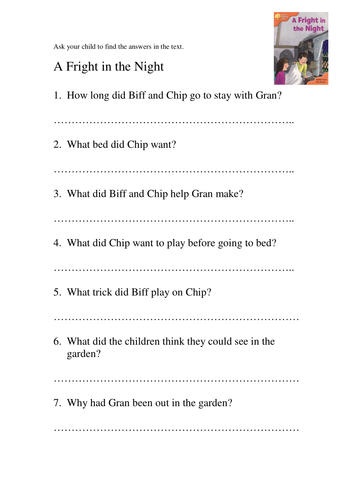 A Dog For A Day Comprehension Oxford Reading Tree