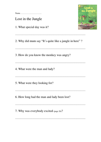 oxford reading tree comprehension sheets by lesleyblahblah teaching resources tes. Black Bedroom Furniture Sets. Home Design Ideas