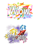 WOW words on fireworks