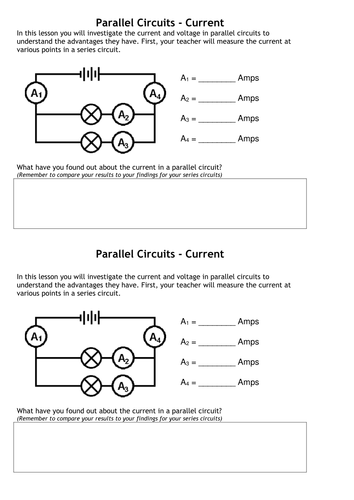 worksheets parallel circuits worksheet opossumsoft worksheets and printables. Black Bedroom Furniture Sets. Home Design Ideas