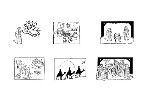 Nativity pictures and sequence sheet by joanna.1980